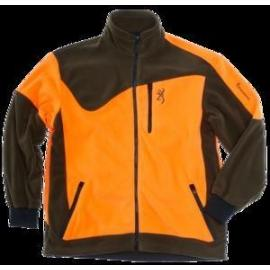 Jacket powerfleece one zippin, green orange s